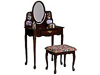 Chelsea Cherry Vanity and Bench