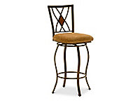 Rustic Crossing Swivel Counterstool