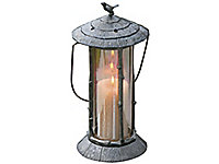 Song Bird Lantern with gold glass