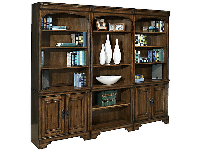 "Northern Oak W35"" x H32 1/2"" Door Bookcase by Aspenhome"