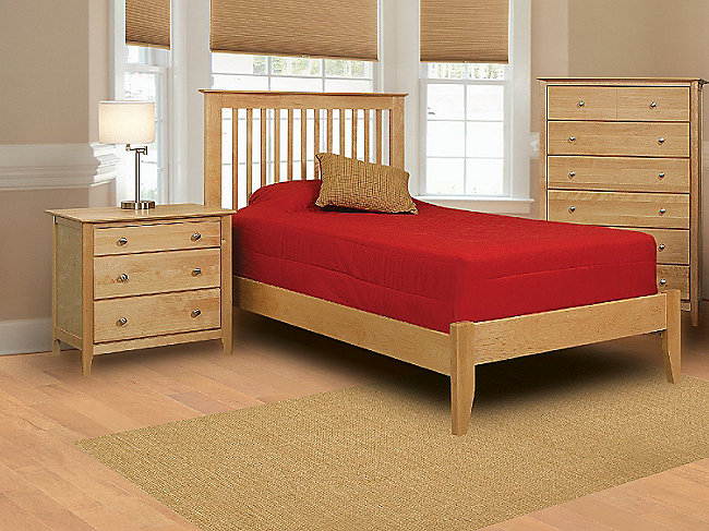 Stratford Full Slat Bedroom Suite with Low Profile Footboard