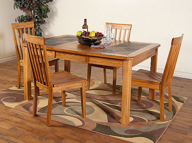 Sedona square extension table with 4 side chairs