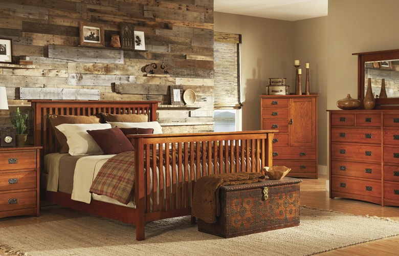 New Trend Home Interior Mission Style Bedroom Furniture